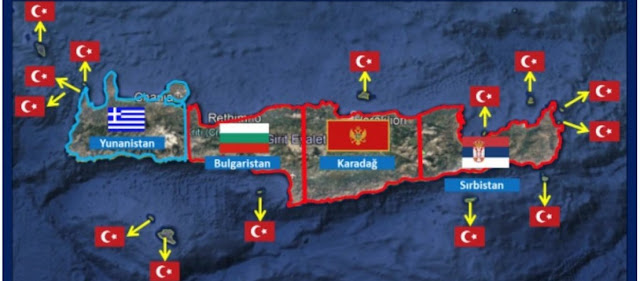 Η Άγκυρα δημοσίευσε χάρτες όπου η Κρήτη «βάσει συνθηκών» είναι κατά 75% τουρκική!