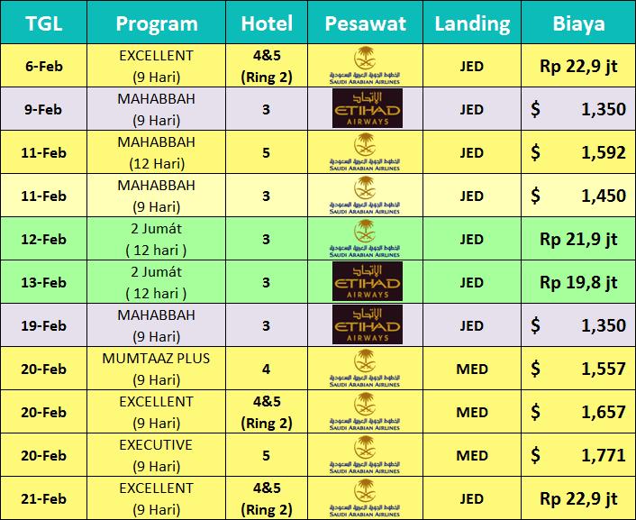 Jadwal-Paket-Umroh-Februari-2019 khazzanah
