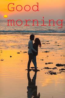 romantic good morning hug images