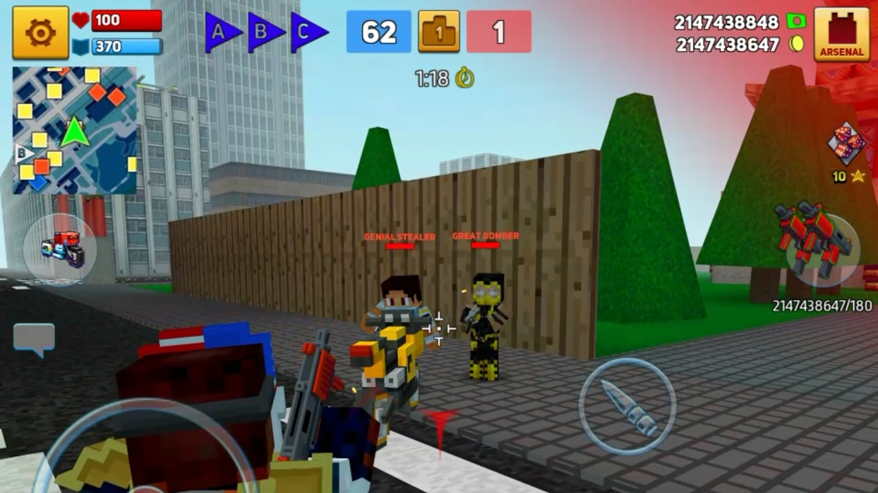 Block City Wars Mod Unlimited Money cho android