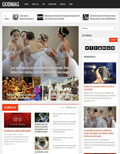 GodMag Responsive Blogger Template Free