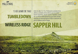 ÚLTIMOS COMBATES WILIAMS - TUMBLEDOWN - WIRELESS RIDGE - SAPPER HILL (12-13-14/ 06/1982)