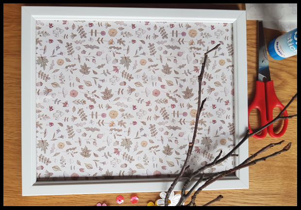 Using scrapbooking paper as background for picture frames