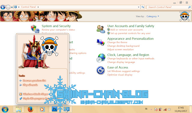 Download Tema Windows 7 Monkey D. Luffy - One Piece