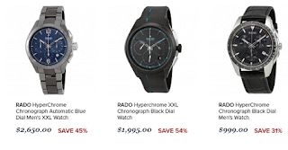 rado hyperchrome chronograph automatic watches
