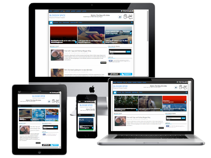 responsive Blogger spice template