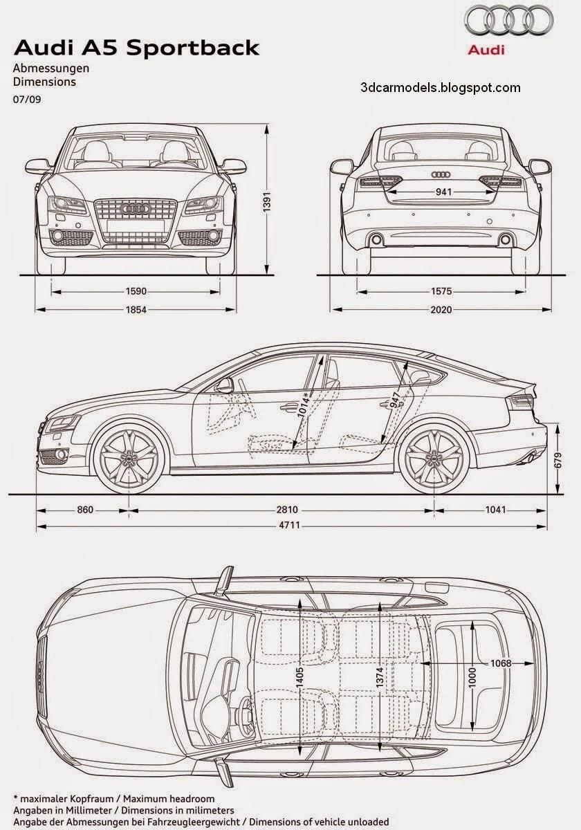 car walpaper: Car Blueprints And Free Models Blueprint Audi Sportback