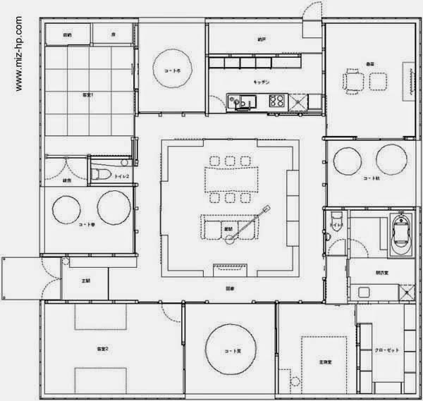 Pin de marce en arquitectura t casas planos y for Casa moderna japonesa