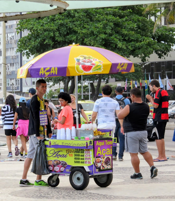 Awesome activities in Rio de Janeiro: buy Acai from a beach vendor