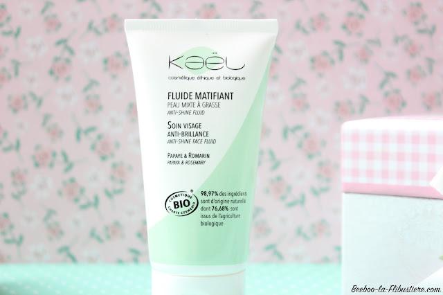 fluide matifiant soin visage anti brillance kael