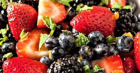 Summer Plum and Berry Fruit Salad