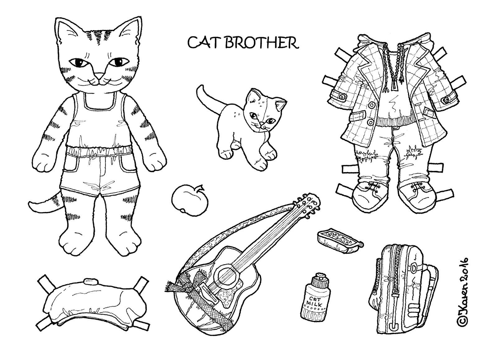 karen s paper dolls  cat brother 1