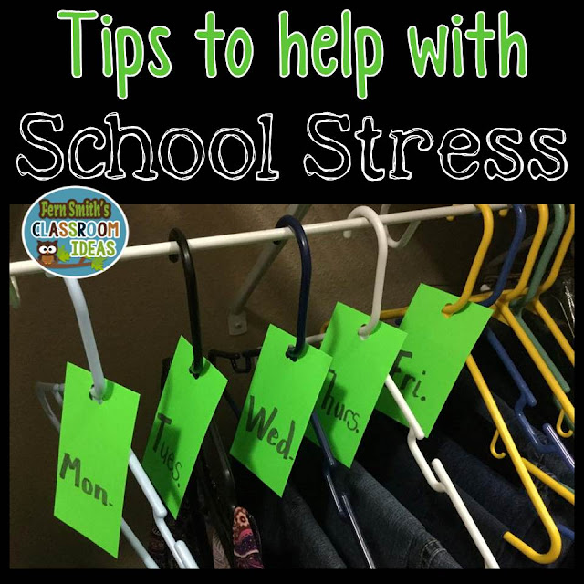 Fern Smith's Classroom Ideas with Tips and Help with Teacher School Stress and An Amazing $100 Teacher Giveaway with Teach123!