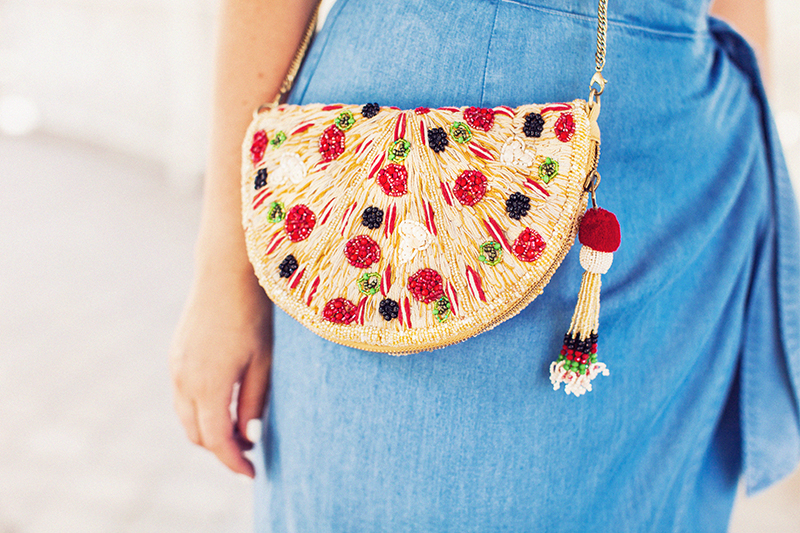 ZARA PIZZA CROSSBODY BAG
