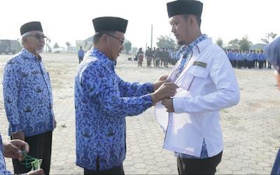 Bupati Sujadi Lepas Calon Haji PNS Pringsewu