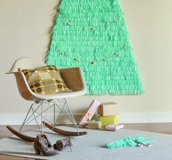 DIY Árbol de navidad con papel seda y cartulina4