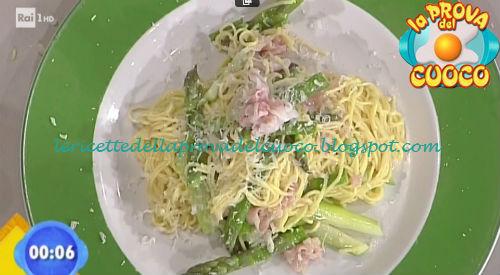 Tagliolini con asparagi e guanciale ricetta Ricchebono da Prova del Cuoco