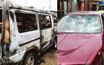 Armed Robbers On Rampage In Lagos For Over 7hrs,Rape Women & Burn Cars
