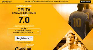 betfair supercuota 7 Celta gana Standard europa league 15 septiembre