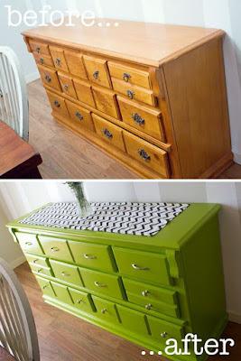 pinta tus viejos muebles y hazlos más divertidos