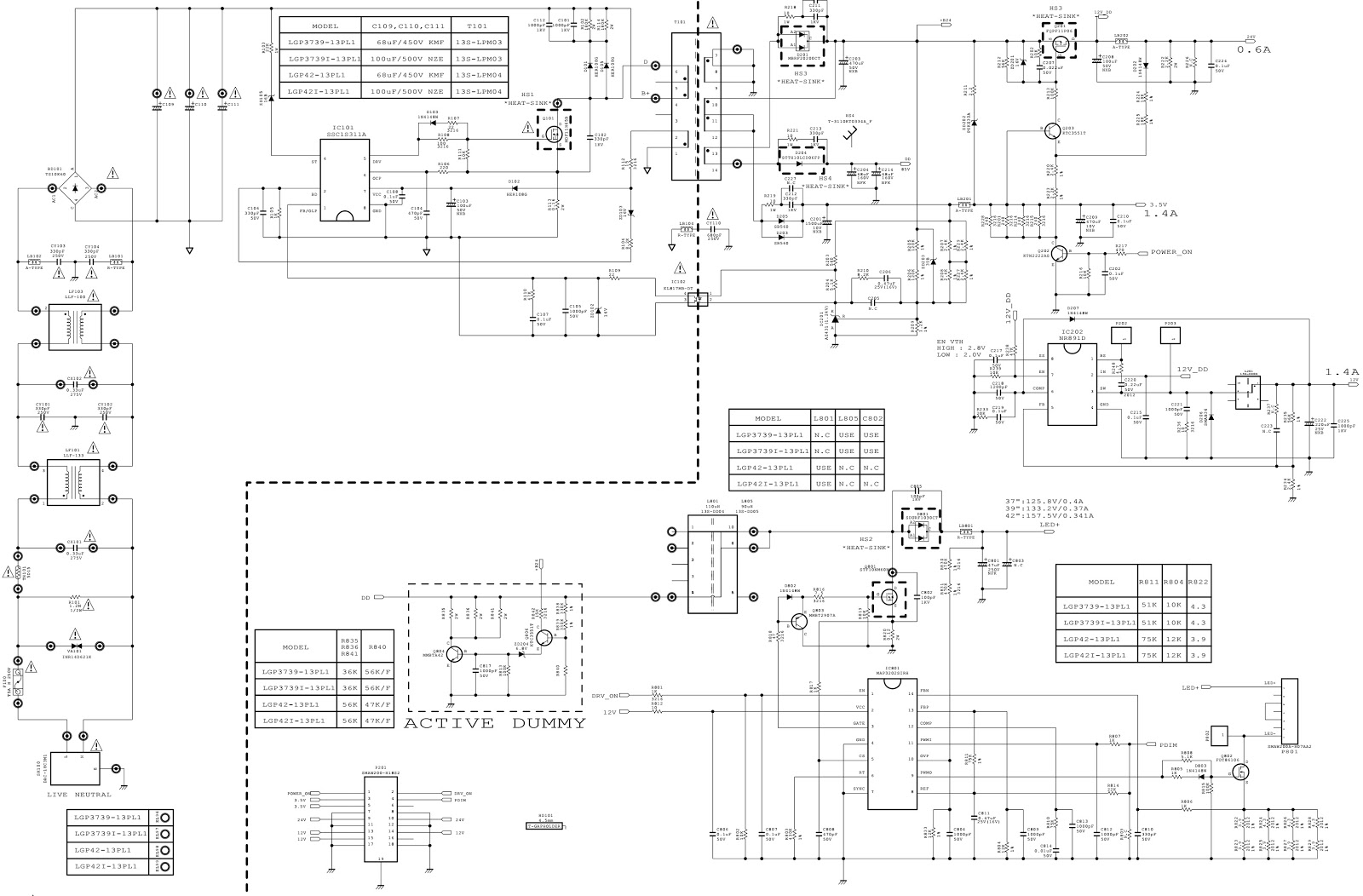 Lgp3739 13pl1 Part Code Eay62810401 Eax64905301 Power Supply Control Panel Circuit Diagram And Parts List For Sharp Microwaveparts Click On The Schematic To Zoom In