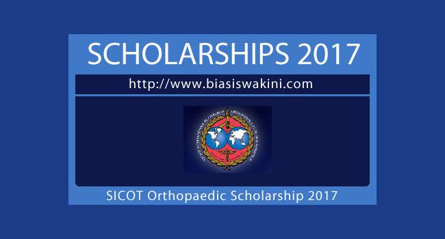SICOT Orthopaedic Scholarship 2017