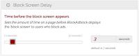 seting block screen delay blockadblock