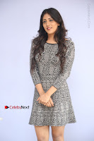 Actress Chandini Chowdary Pos in Short Dress at Howrah Bridge Movie Press Meet  0096.JPG