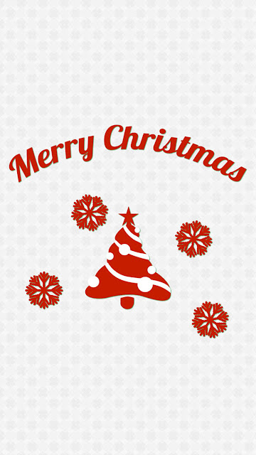 Simple Merry Christmas Message iPhone 7 Wallpaper