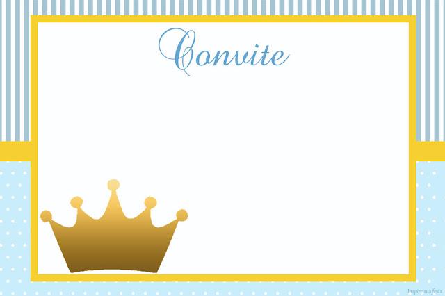 Para hacer Invitaciones, Tarjetas, Marcos o Etiquetas  para Imprimir Gratis de Corona en Fondo Celeste.