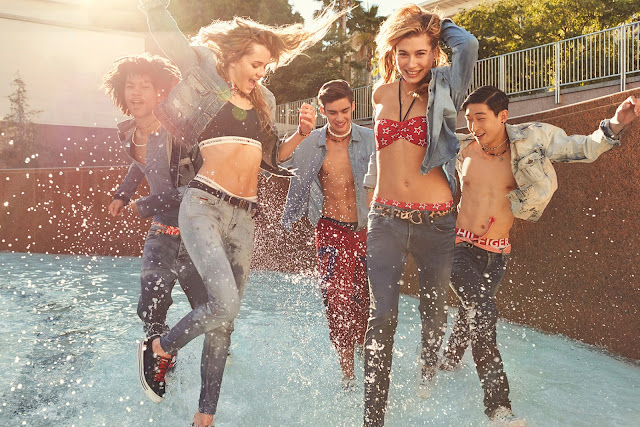 Tommy Hilfiger, Hilfiger Denim, Hailey Baldwin,  Immy Waterhouse, Dynamic Stretch, Devyn Galindo, millennial, Suits and Shirts, Sang Woo Kim, David Bywater,