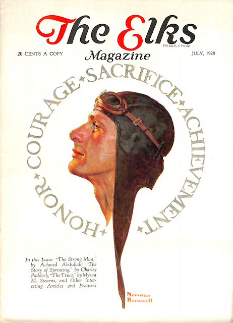 July 1928 cover for The Elks magazine by Norman Rockwell