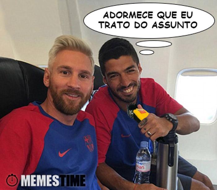 Memes Time Lionel Messi e Luis Suárez – Adormece que eu trato do assunto