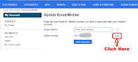 how to change or update mobile number in flipkart online