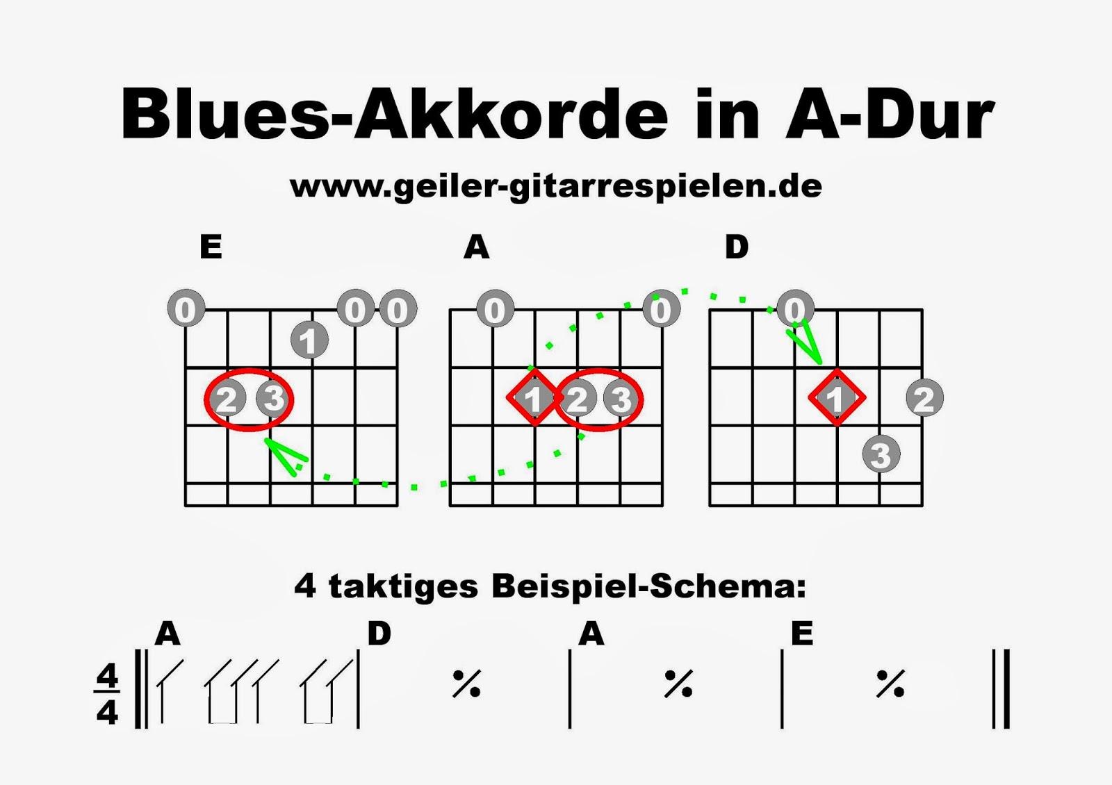Blues-Akkorde in A-Dur | Einfach geiler Gitarre spielen!