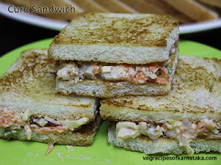 Curd sandwich recipe in Kannada