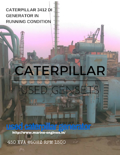 CAT, Caterpillar, used , generator, auxilliary engine, 450 KVA, 50 HZ, 1500 RPM, cylinder