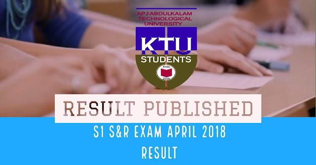 ktu s1 2018 result