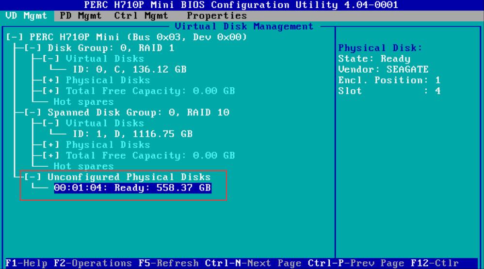 Dysk twardy zamontowany w serwerze, ale jeszcze nie skonfigurowany