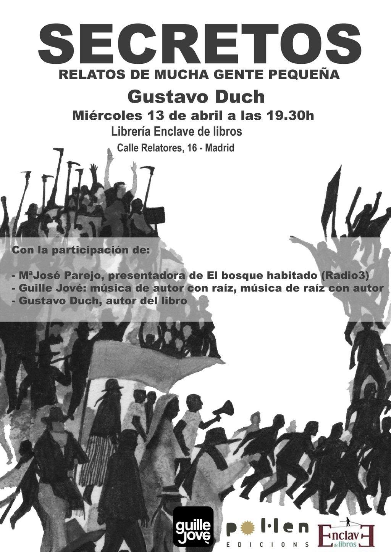 Enclave de libros presentaci n secretos de gustavo duch 13 04 a las 19 30 h - Gustavo duch ...