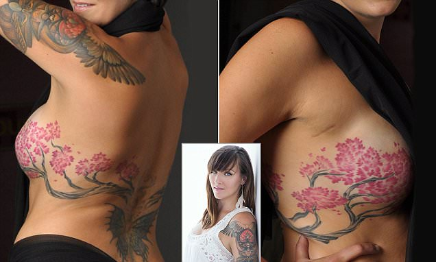 Bidexmedia breast cancer survivor covers mastectomy scars for Breast reconstruction tattoos