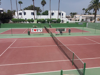 Photo of tennis courts in Corralejo, I love Fuerteventura
