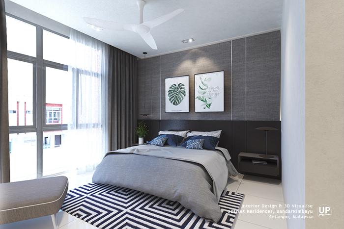 ID For Rimbayu Scarlet Residence Master Bedroom | Malaysia