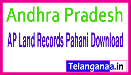 Andhra Pradesh AP Land Records Pahani Download at meebhoomi