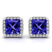 Princess Tanzanite Earrings