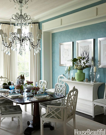 Blue and White Dining Room Decorating Ideas