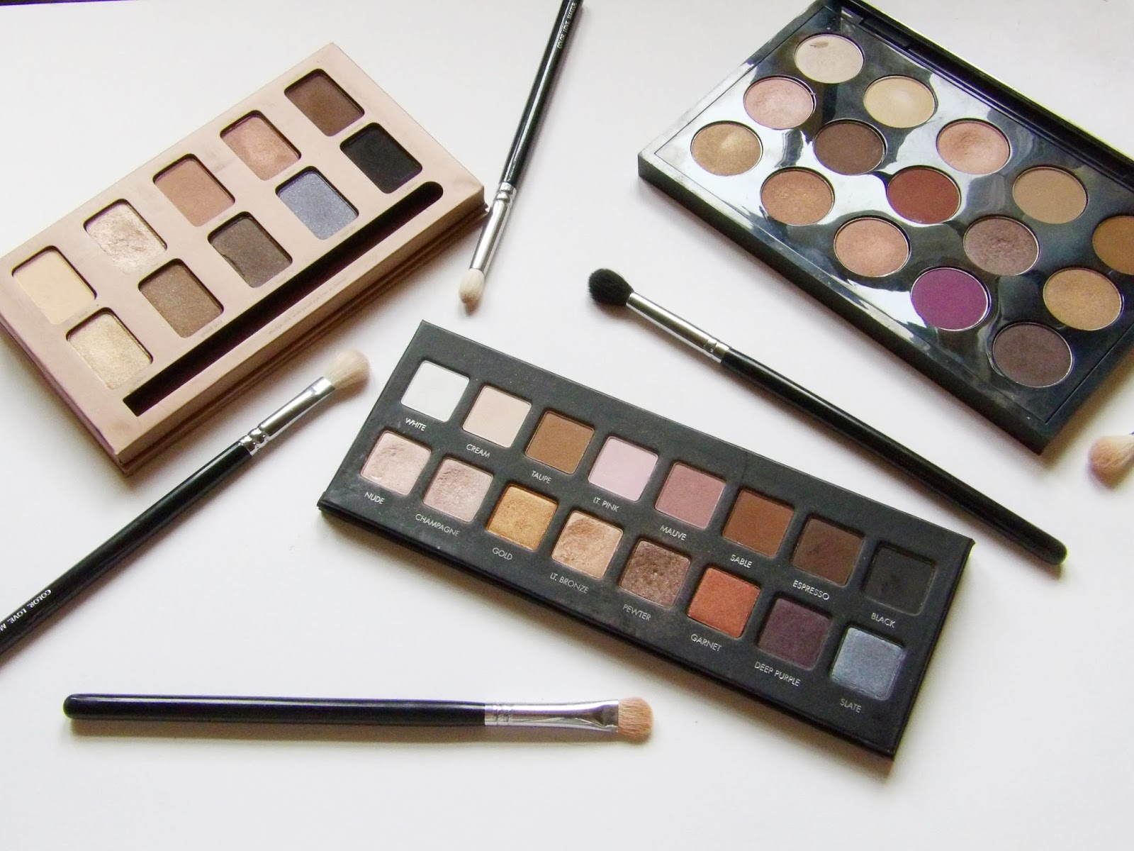 my most used eyeshaow palettes