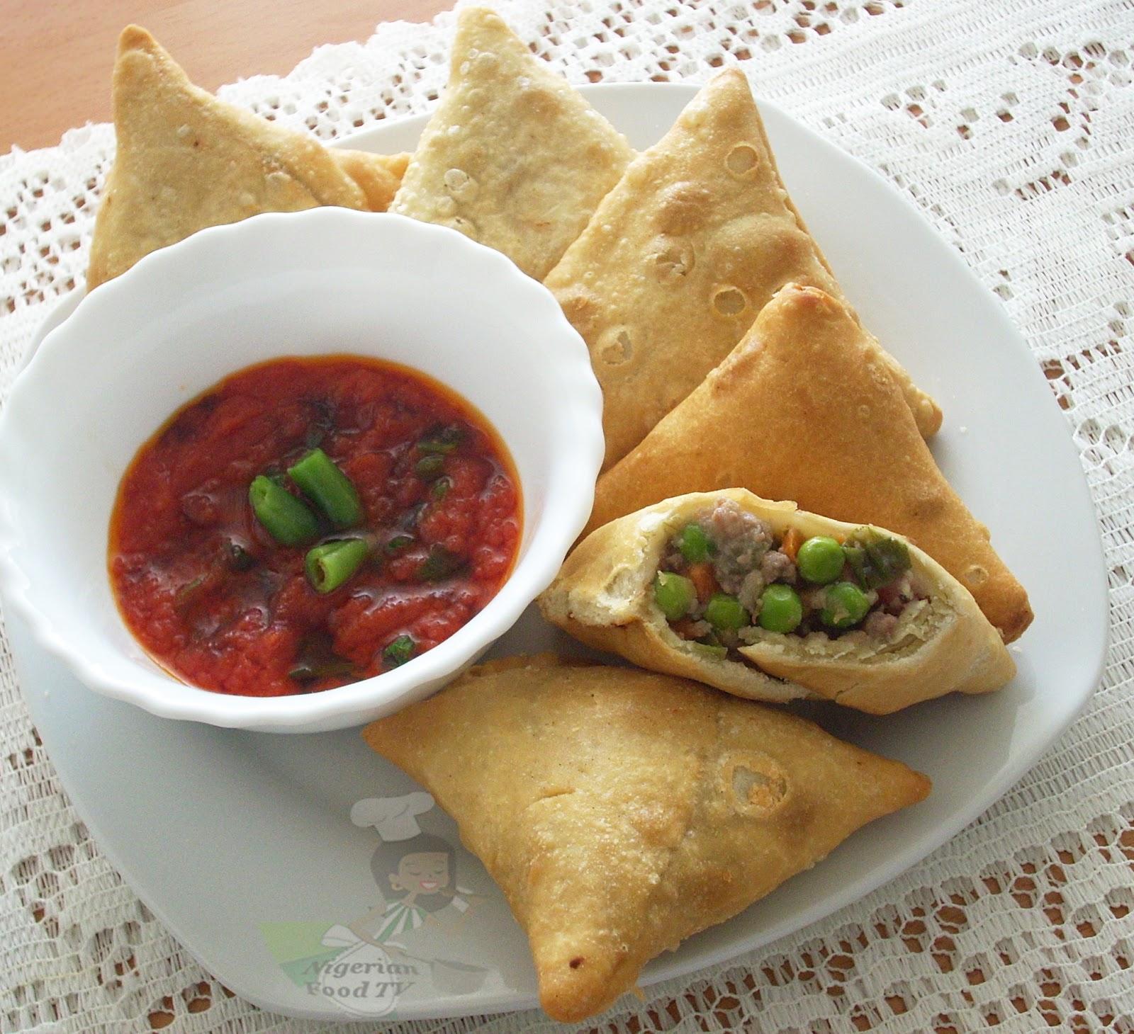 how to make small chops , nigerian samosa,small chops menu ,small chops recipes