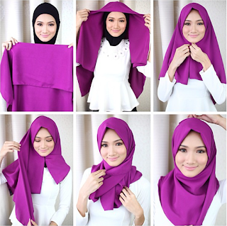 turorial hijab cantik paris