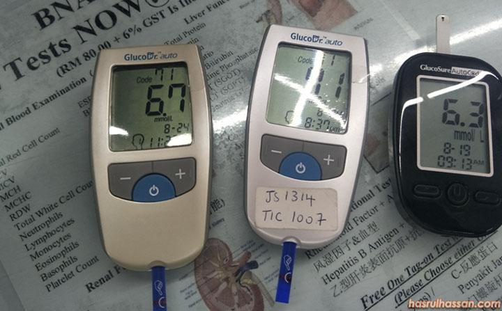 Alat-alat untuk test gula dalam darah dengan cepat